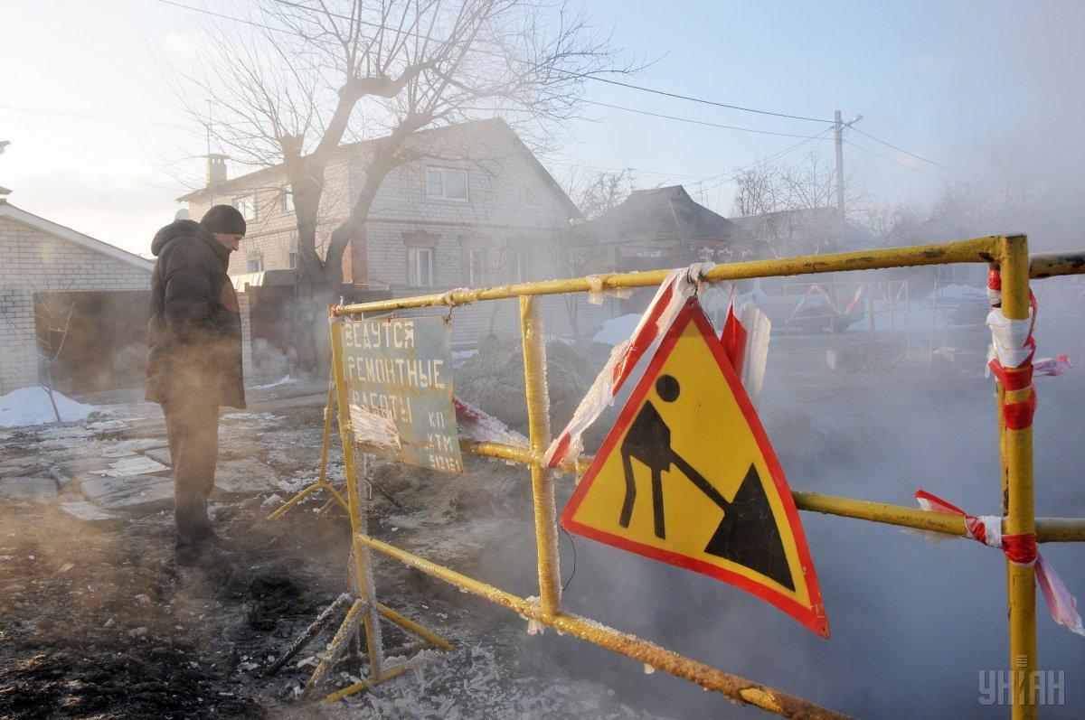 Трубу в Харькове снова прорвало / фото УНИАН