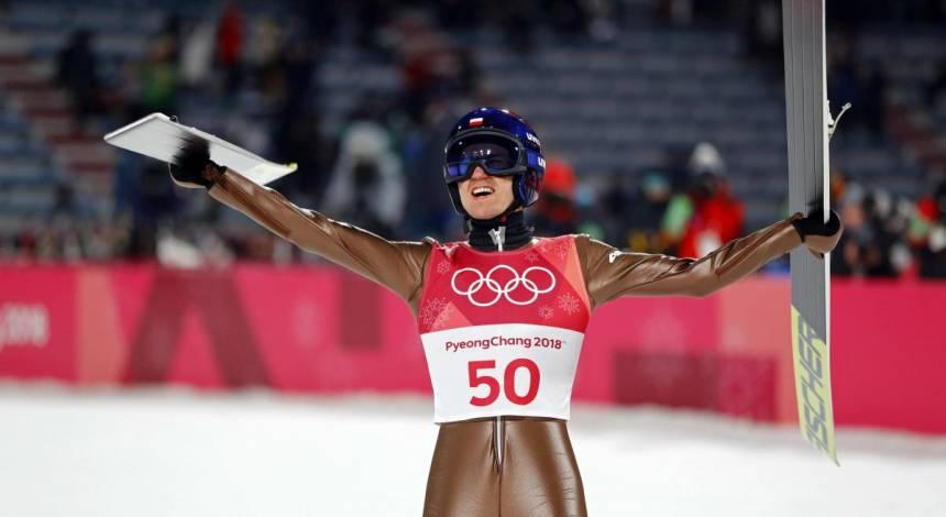Поляк Стох выиграл Олимпиаду в прыжках с трамплина на 120-метровом трамплине