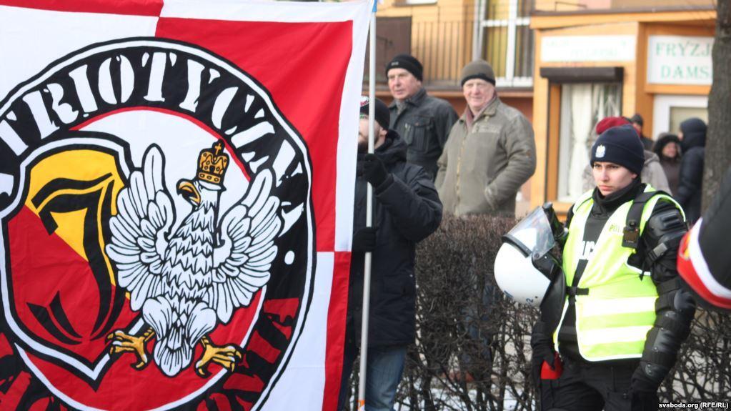 Марш националистов в одном из польских городов / svoboda.org