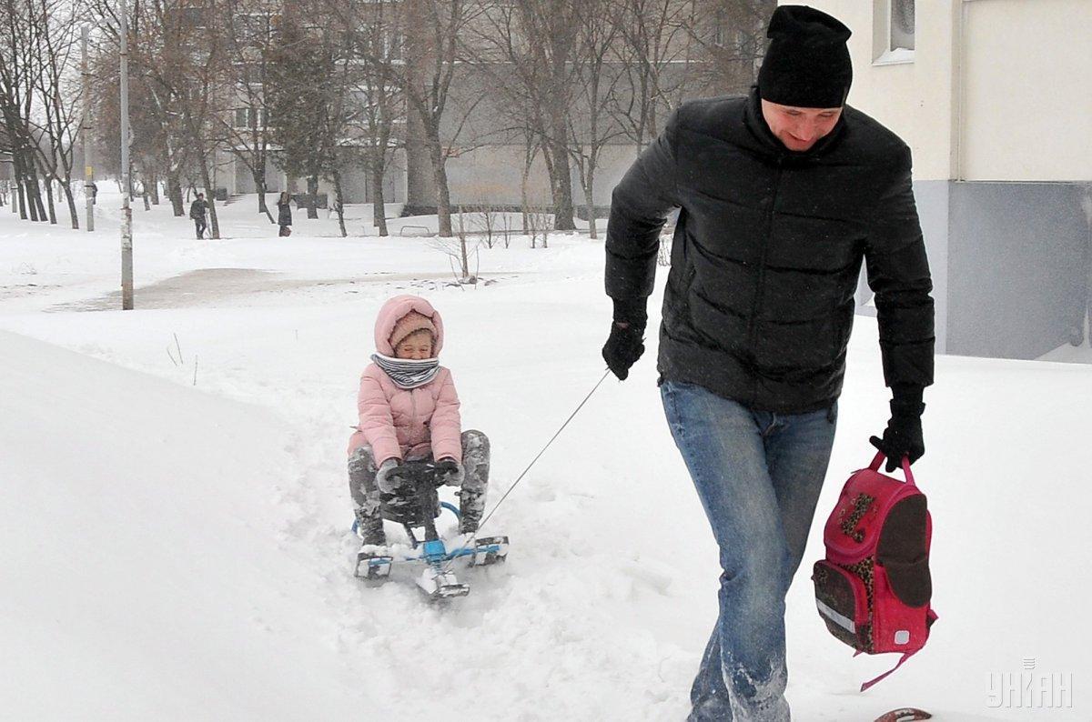 Завтра в Украину вернутся снегопады / УНИАН