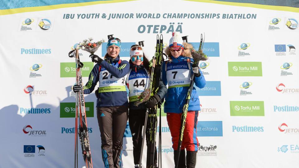 Кривоніс здобула першу нагороду для України на юніорському ЧС / biathlonworld.com