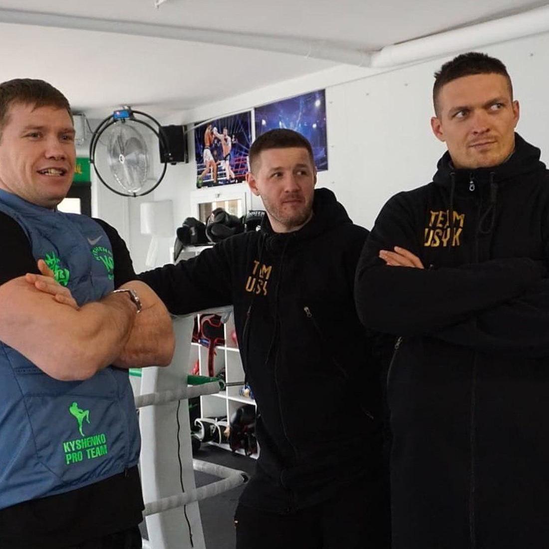Усик под руководством Ватаманюка будет тренироваться в зале Кишенко / instagram.com/lomus.ua