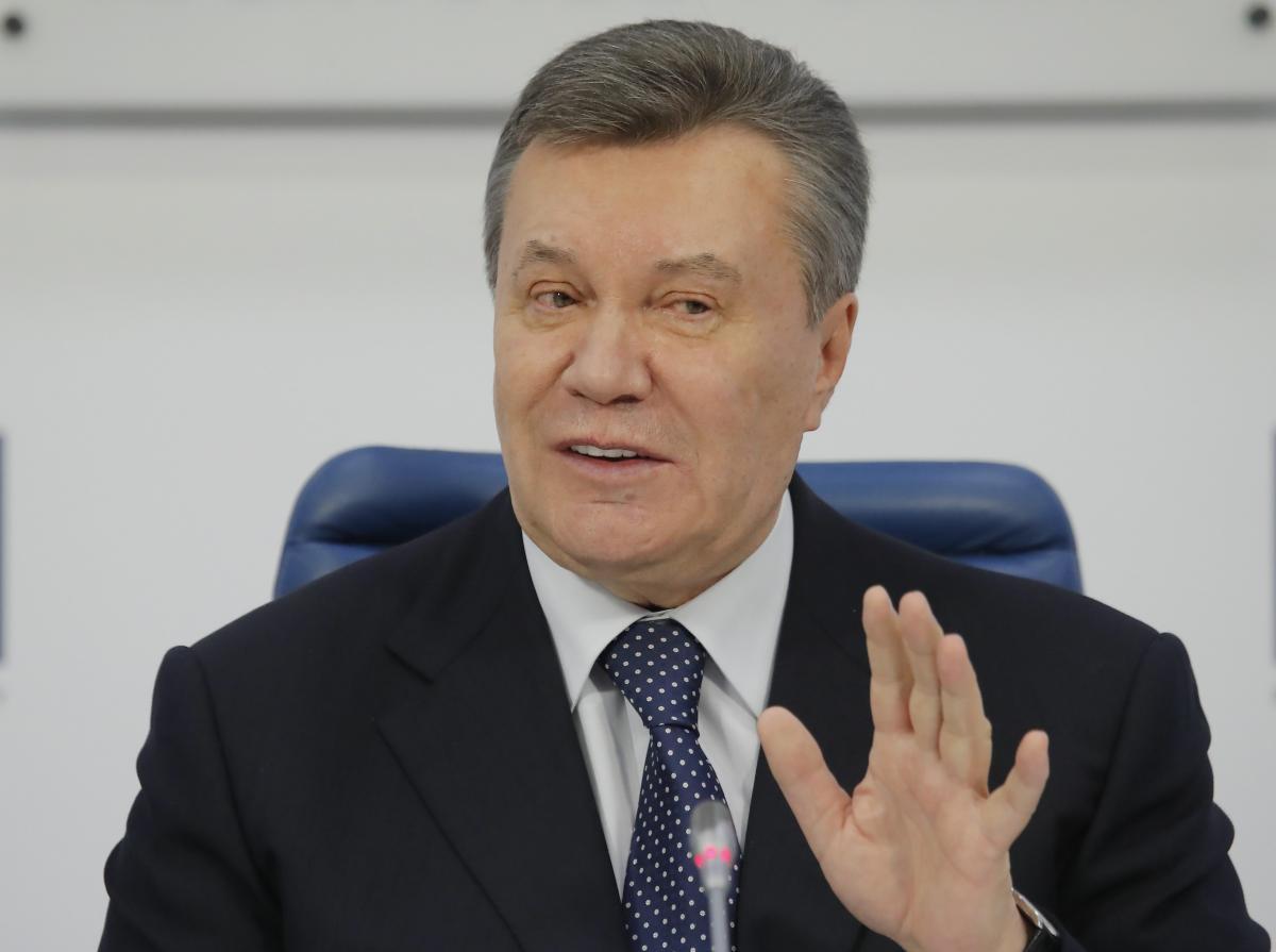 Янукович во время пресс-конференции в Москве / фото REUTERS