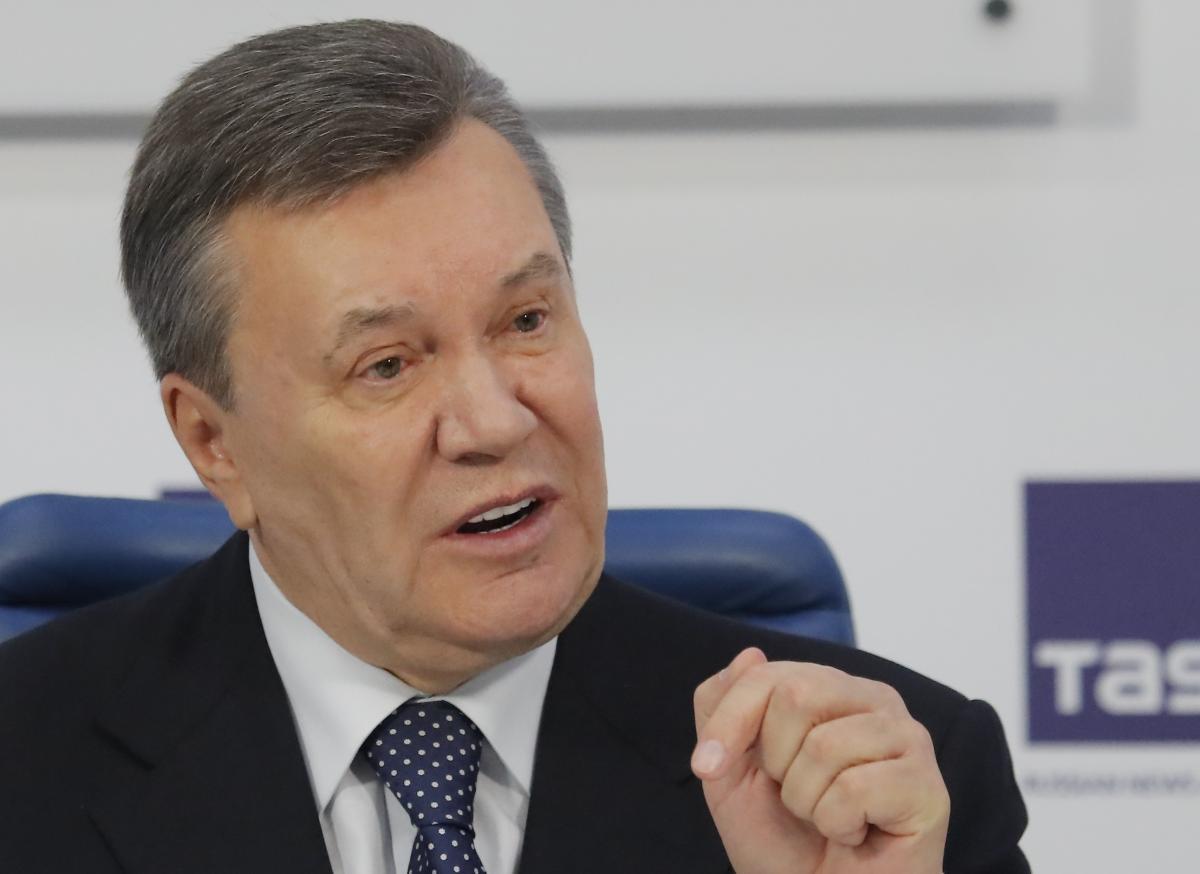 Янукович во время пресс-конференции в Москве / REUTERS