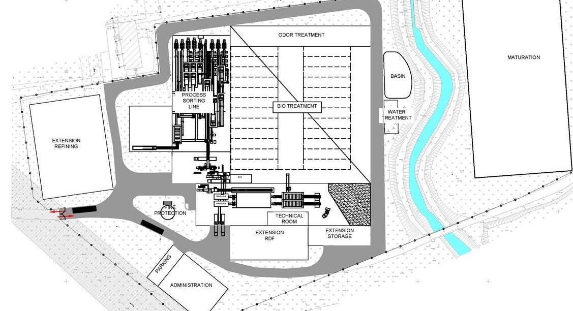 Схема будущего завода