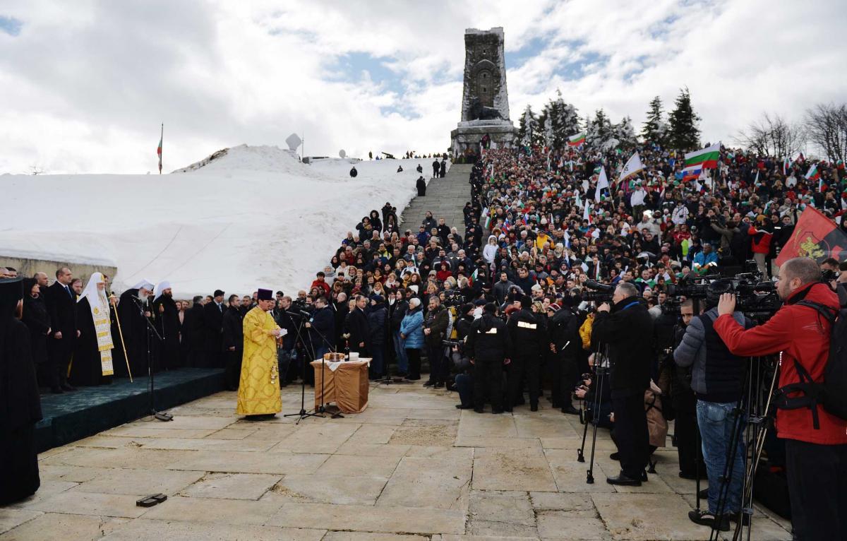 Торжественная церемония по случаю Национального праздника Республики Болгарии на горе Шипка http://foto.patriarchia.ru
