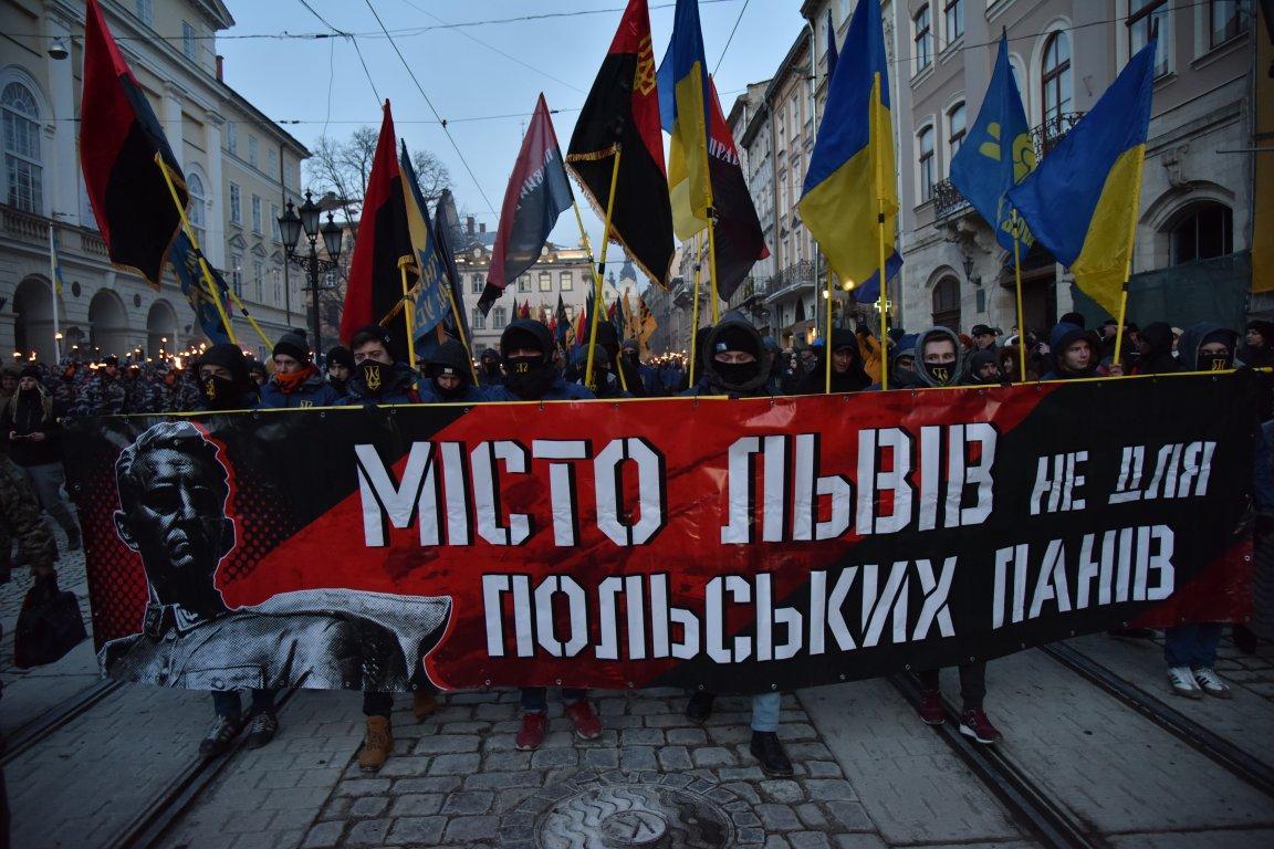 Факельный марш проходил под антипольскими лозунгами / фото zaxid.net