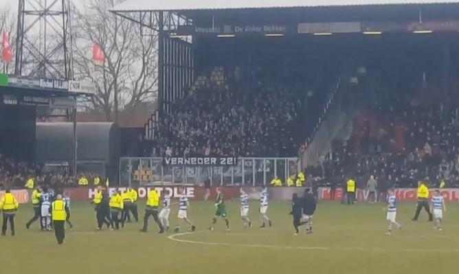 Фанаты подрались после матча чемпионата Нидерландов / UA-Football