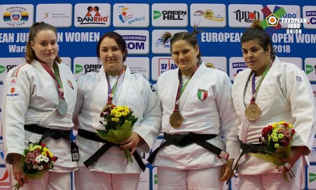 Анастасия Сапсай (вторая слева) - чемпионка Открытого Континентального Кубка / eju.net