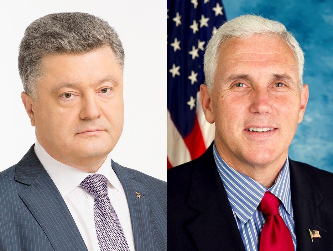 Порошенко пообщался с Пенсом / фото president.gov.ua