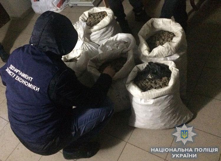 В Рівному знайшли бурштину на мільйон гривень / Національна поліція України