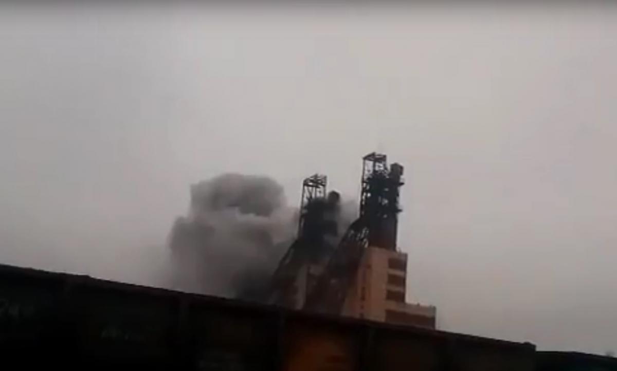 На Запорожье горит шахта, есть пострадавшие / Скриншот – Youtube, goforua