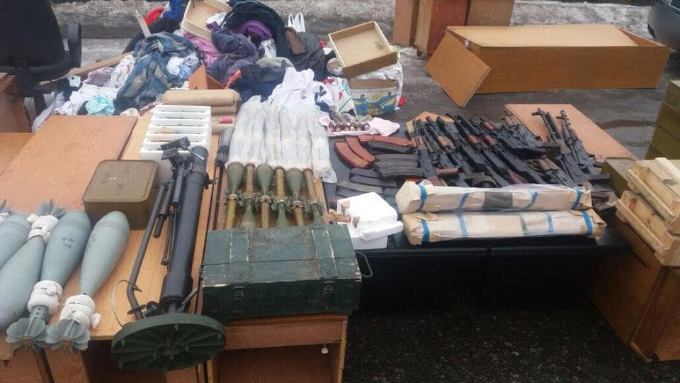 Оружие, найденное во время задержания Рубана / фото facebook.com/miroslavgai