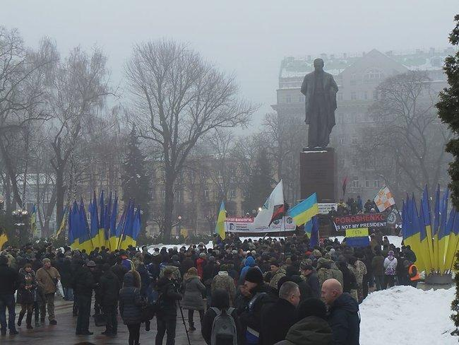 Сторонники Саакашвили прорвались в парке / фото Цензор.НЕТ