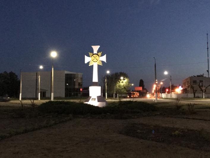 Поклінний хрест в Мелітополі / ria-m.tv