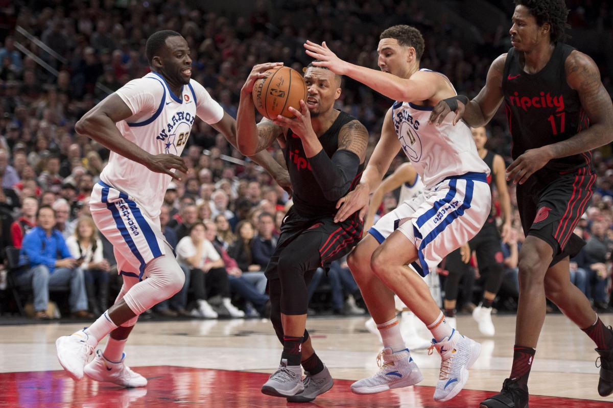 """""""Голден Стейт"""" не смог сдержать атакующий порыв """"Портленда"""" в очередном матче НБА / Reuters"""