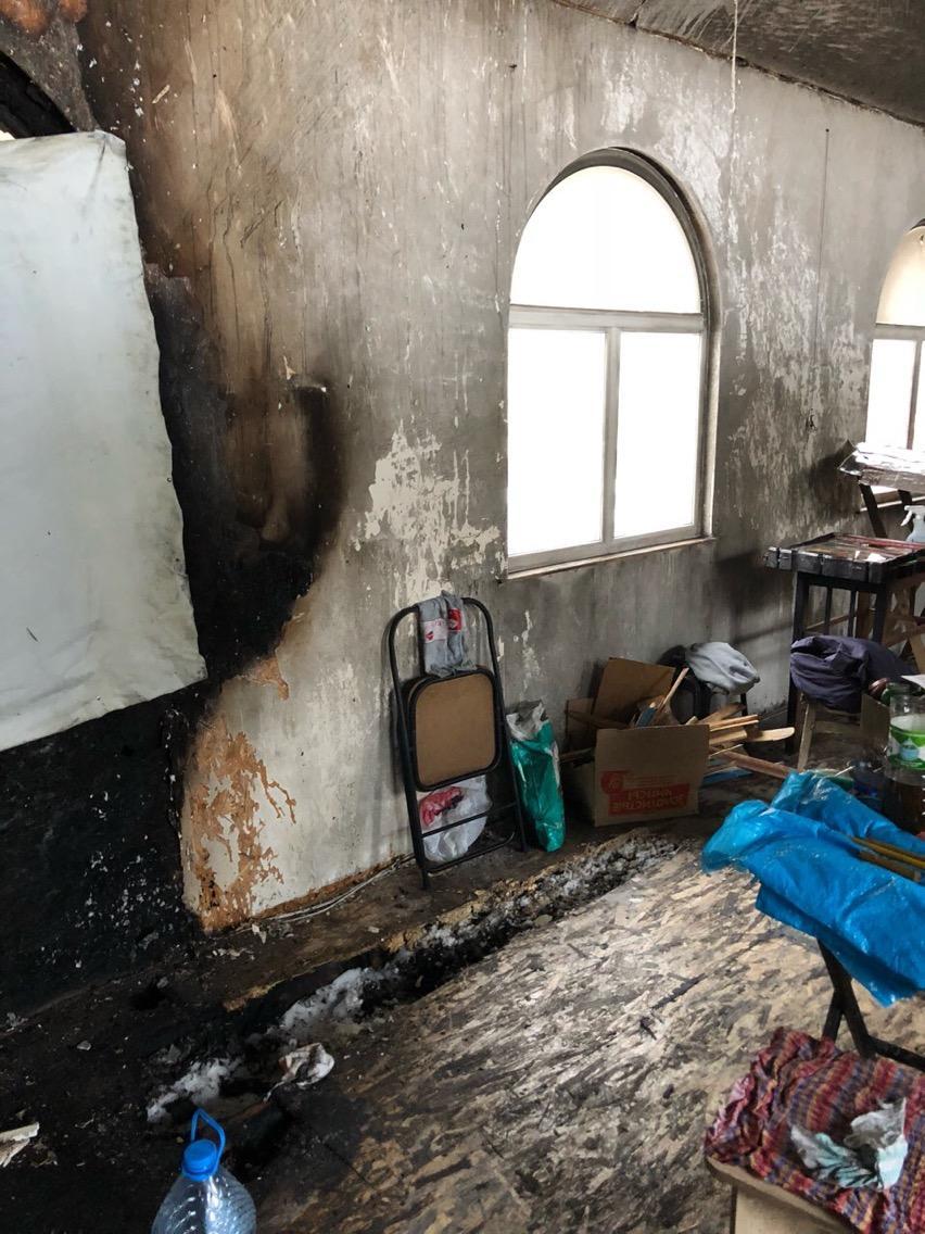Последствия пожара в храме / mitropolia.kiev.ua