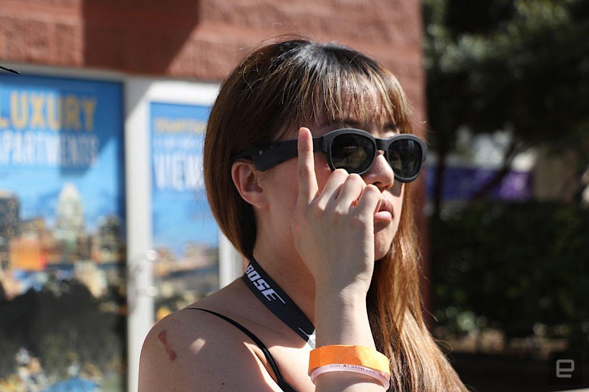 Испытание очков Bose / фото engadget.com