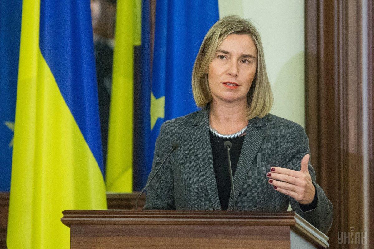 EU High Representative Federica Mogherini visited Kyiv / Photo from UNIAN
