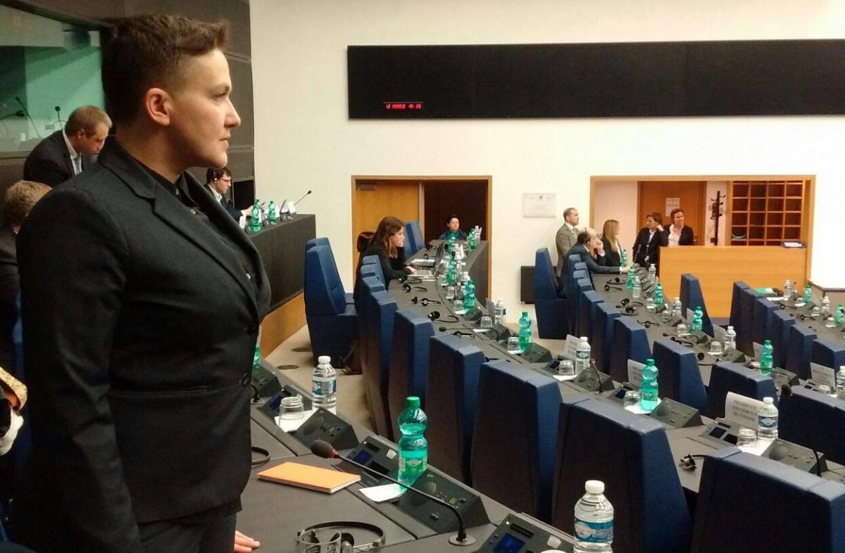 Береза знайшов несоотетствия в словах Савченко про її присутність у Страсбурзі/ фото facebook.com/Savchenko.Nadiia