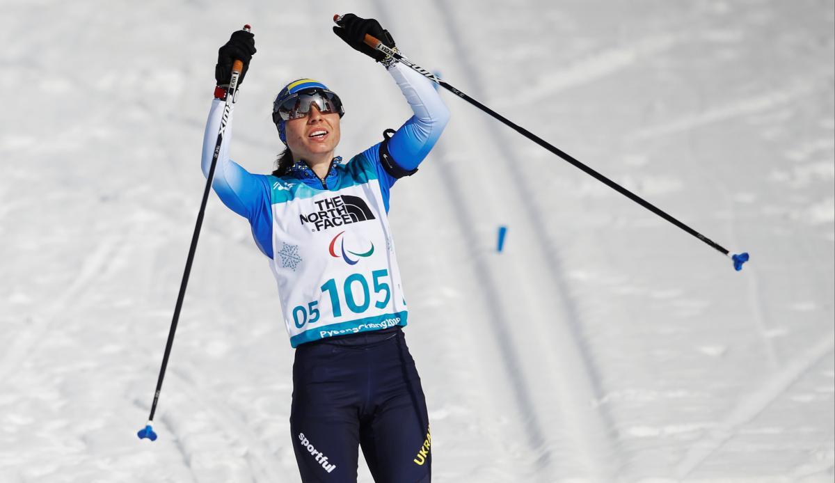 Оксана Шишкова - чемпионка Паралимпиады-2018 / REUTERS