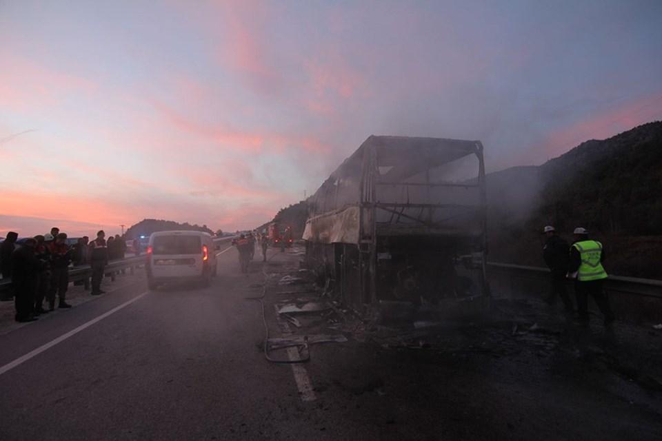 Врезультате происшествия надороге  вТурции сгорел автобус спассажирами