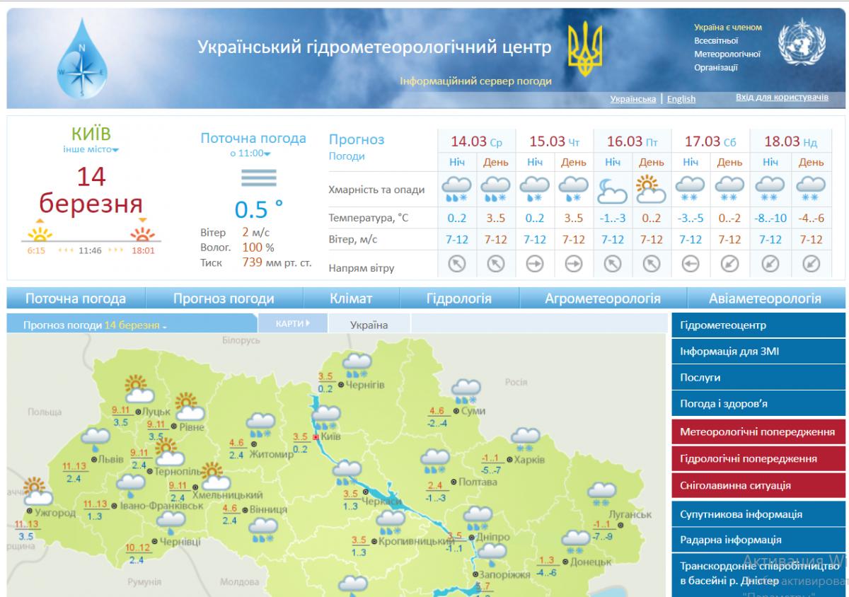 Сайт украинского Гидрометцентра майнит криптовалюту