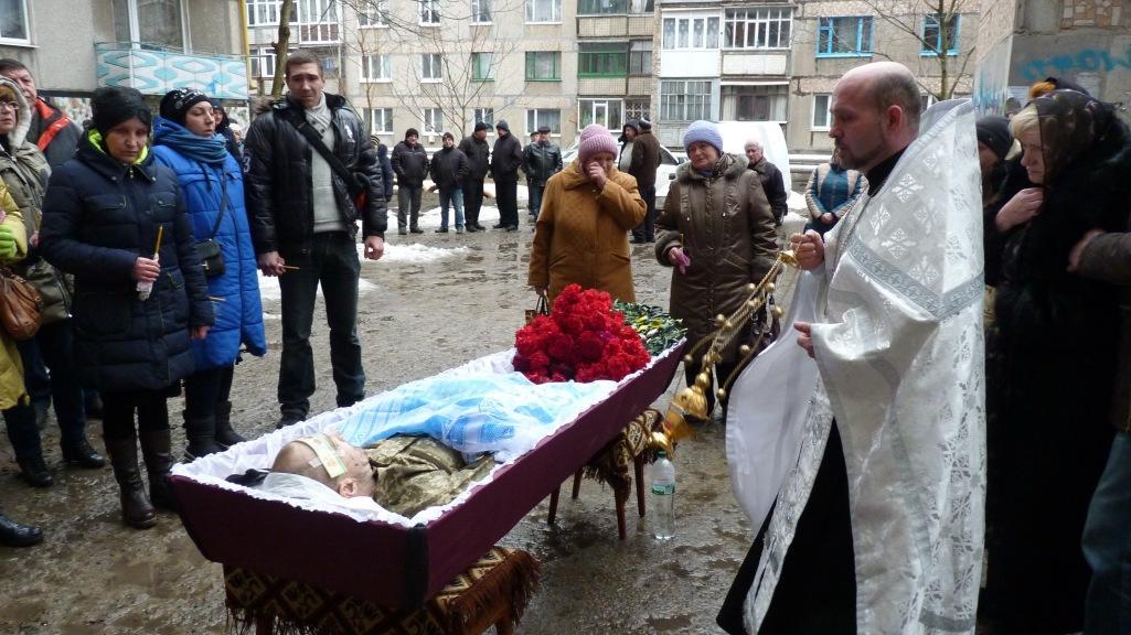 Прощання із загиблим Олександром Швецем / Фото myalexandriya.blogspot.com