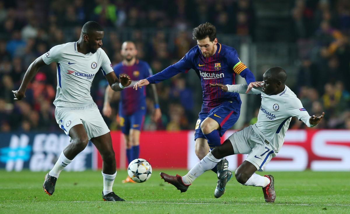 "Месси забил два гола в ворота ""Челси"" / Reuters"