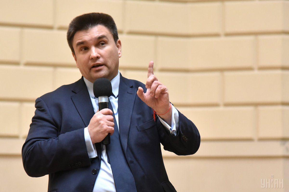 Россия коварно напала на Украину и захватила наш Крым и Донбасс, напомнил Климкин / фото УНИАН