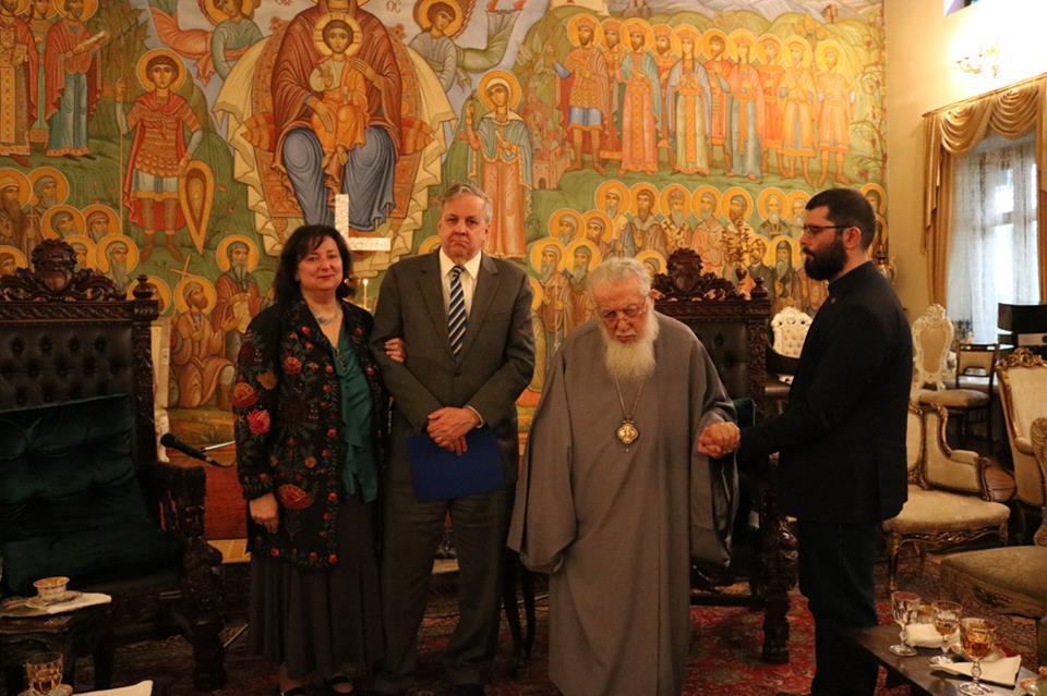 Встреча Патриарха Грузии с Послом США / patriarchate.ge