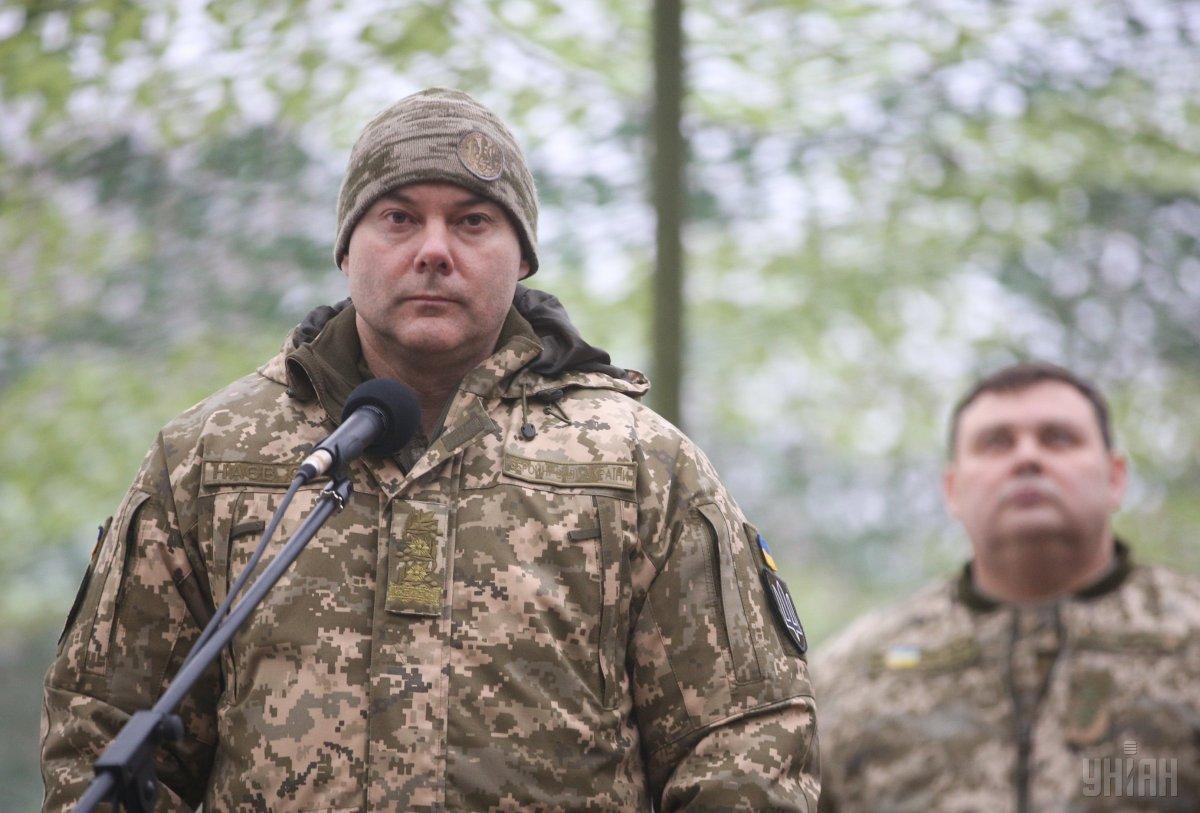 Наєв розповів, що бойова служба переведена на посилений режим / УНІАН