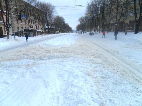 Дніпро накрив сильний снігопад / dv-gazeta.info