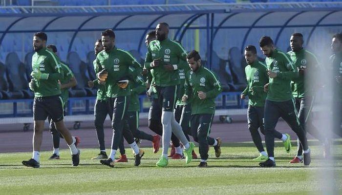 Игроки сборной Саудовской Аравии готовятся к матчу с Украиной / thesaff.com.sa
