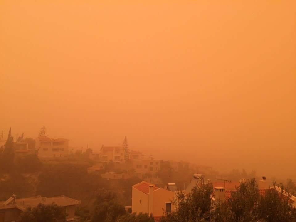 Крит накрила піщана буря / twitter.com/kretawandelen