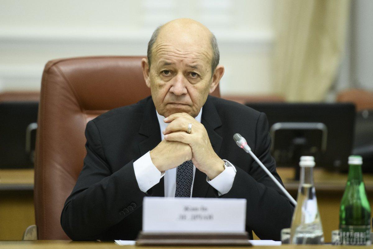 Глава МЗС Франції Жан-Ів Ле Дріан / фото УНІАН