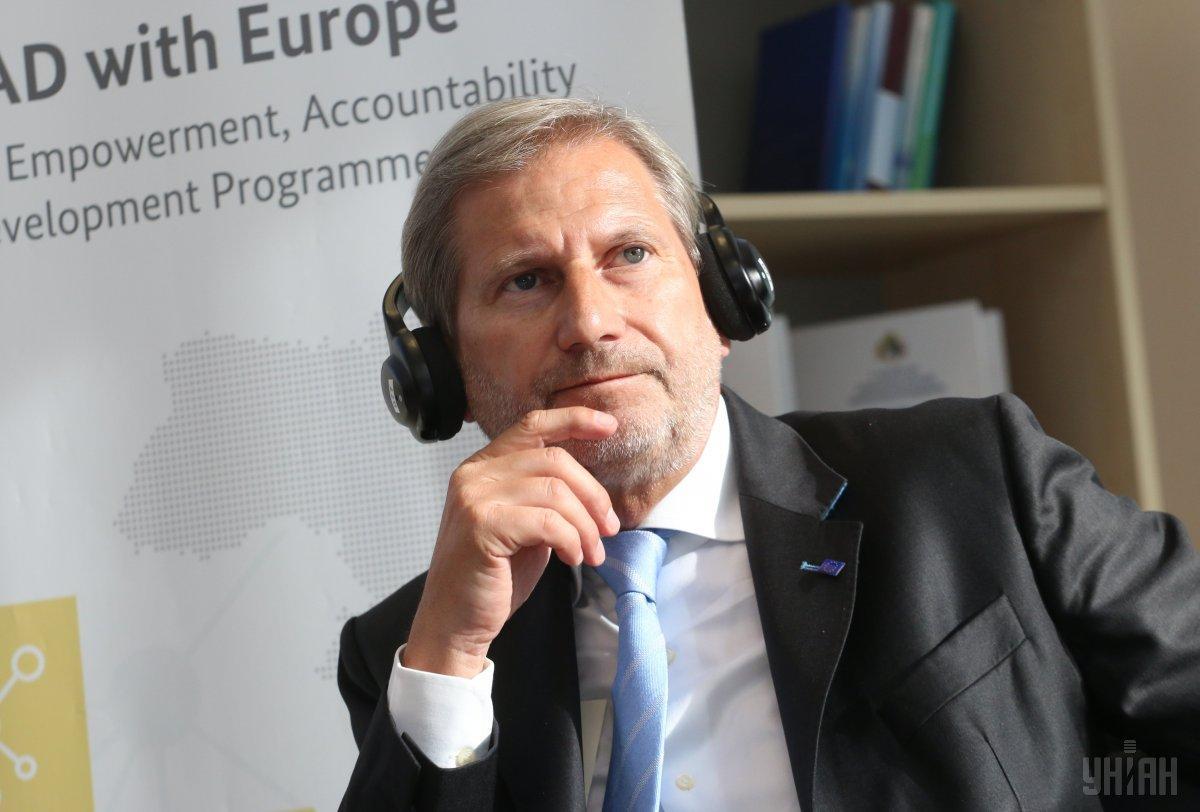 Еврокомиссар по Европейской политике соседства и переговоров о расширении Йоханнес Хан / фото УНИАН