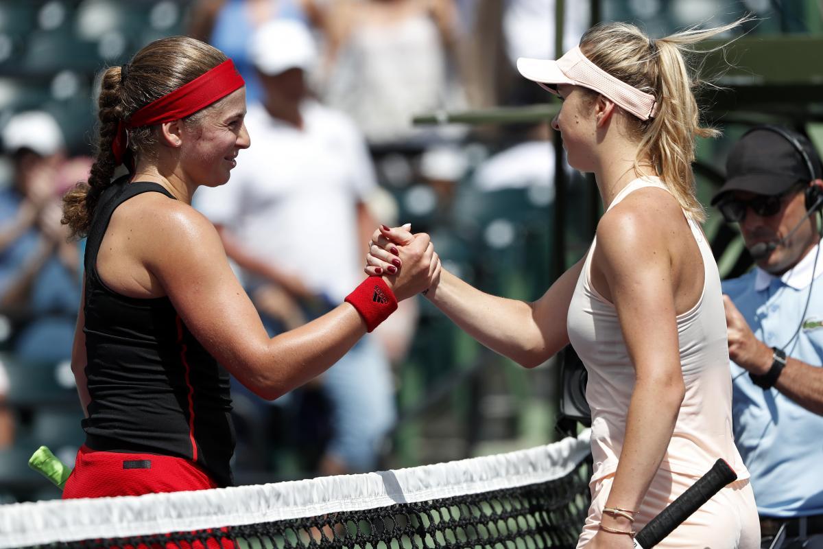 Свитолина уступила Остапенко в четвертьфинале в Майами / REUTERS