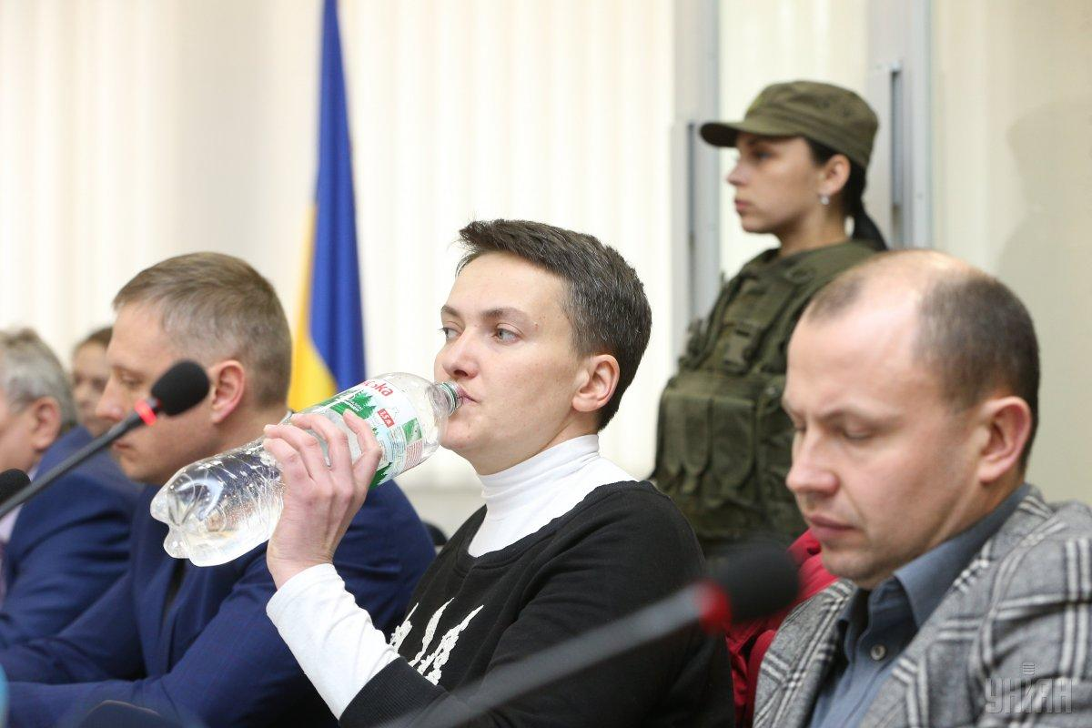 MP Savchenko (in the center) / Photo from UNIAN