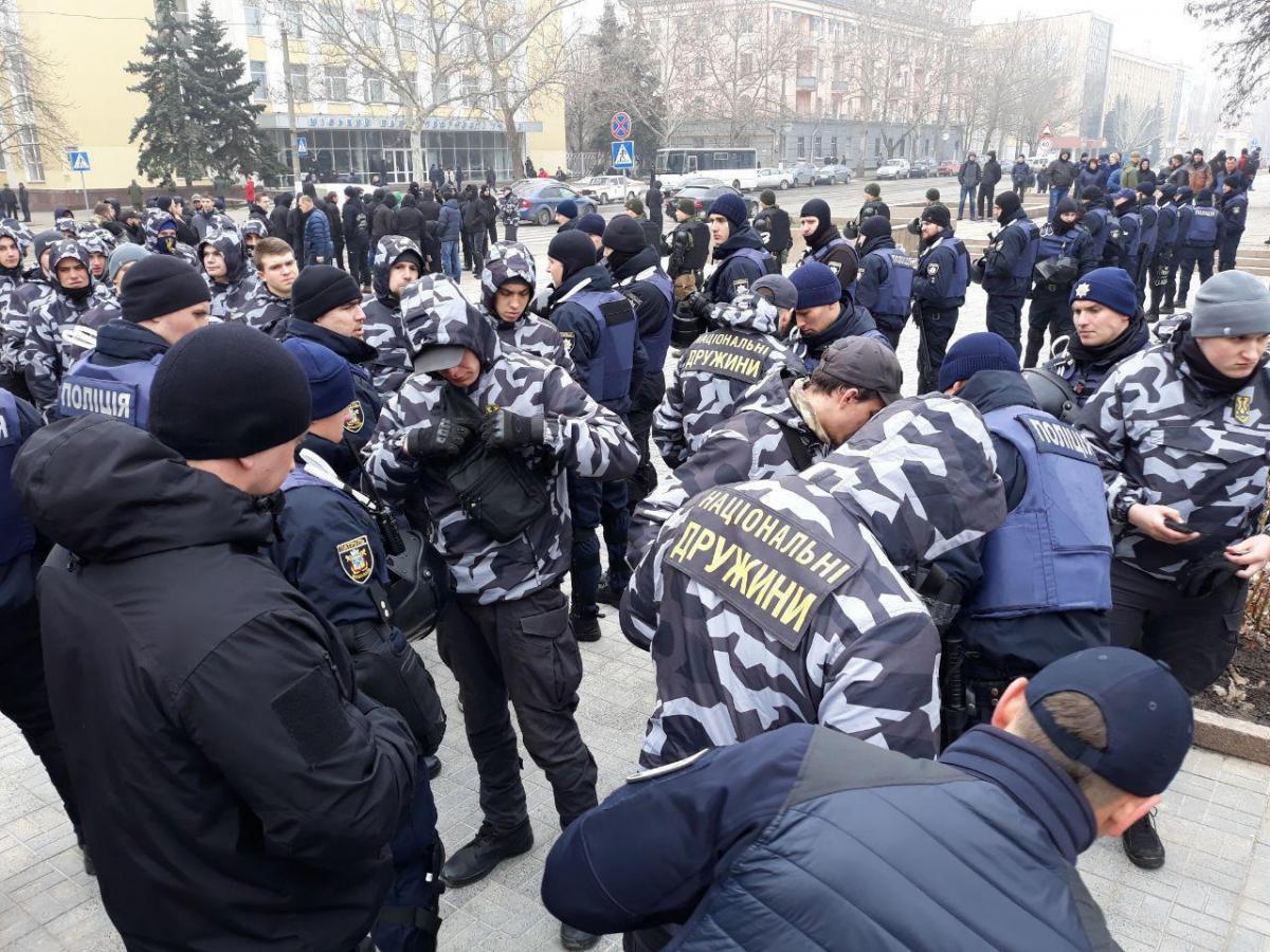 Националисты в Николаеве требовали отставки главы ОГА / фото: t.me/ACRains
