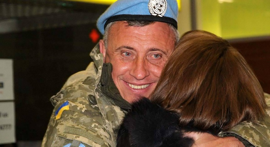 Seventy-five Ukrainian UN peacekeepers return home from Congo