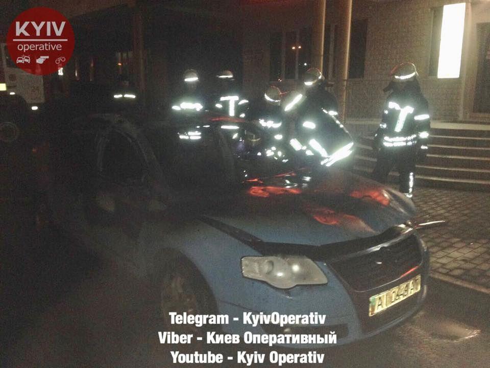 Инцидент произошел на улице Анны Ахматовой / фото facebook.com/KyivOperativ