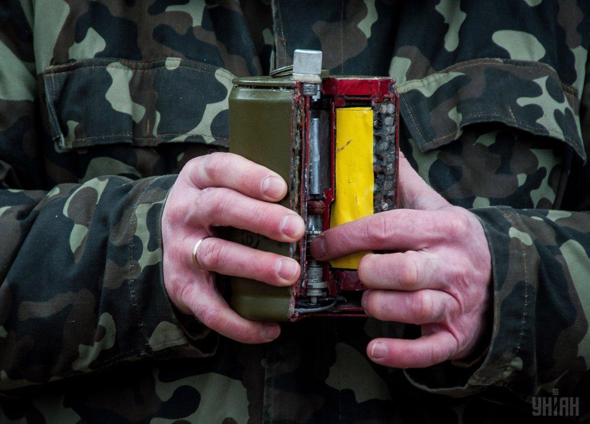 Противопехотная мина в разрезе / Фото УНИАН