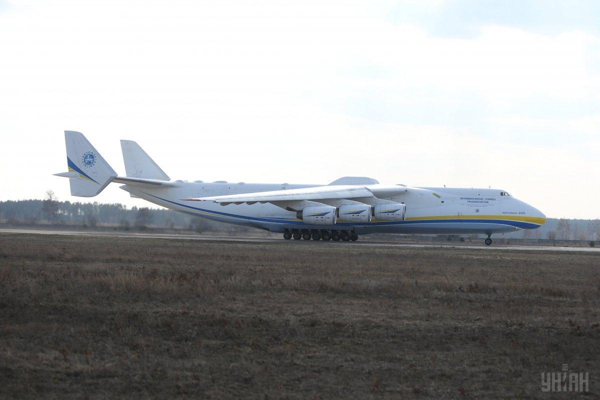 Крупнейший вмире транспортный самолет «Мрия» снова улетел из столицы Украины