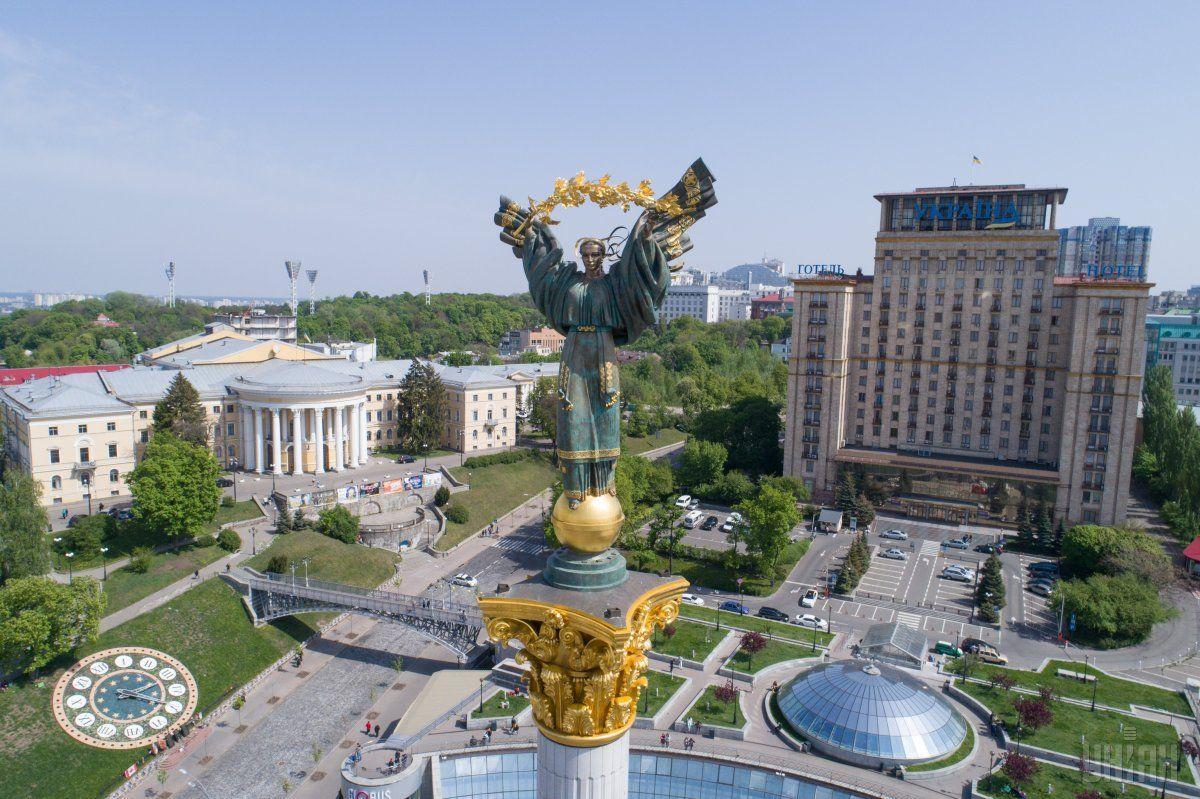 В районе Майдана Незалежностина несколько недель перекрыли движение / УНИАН