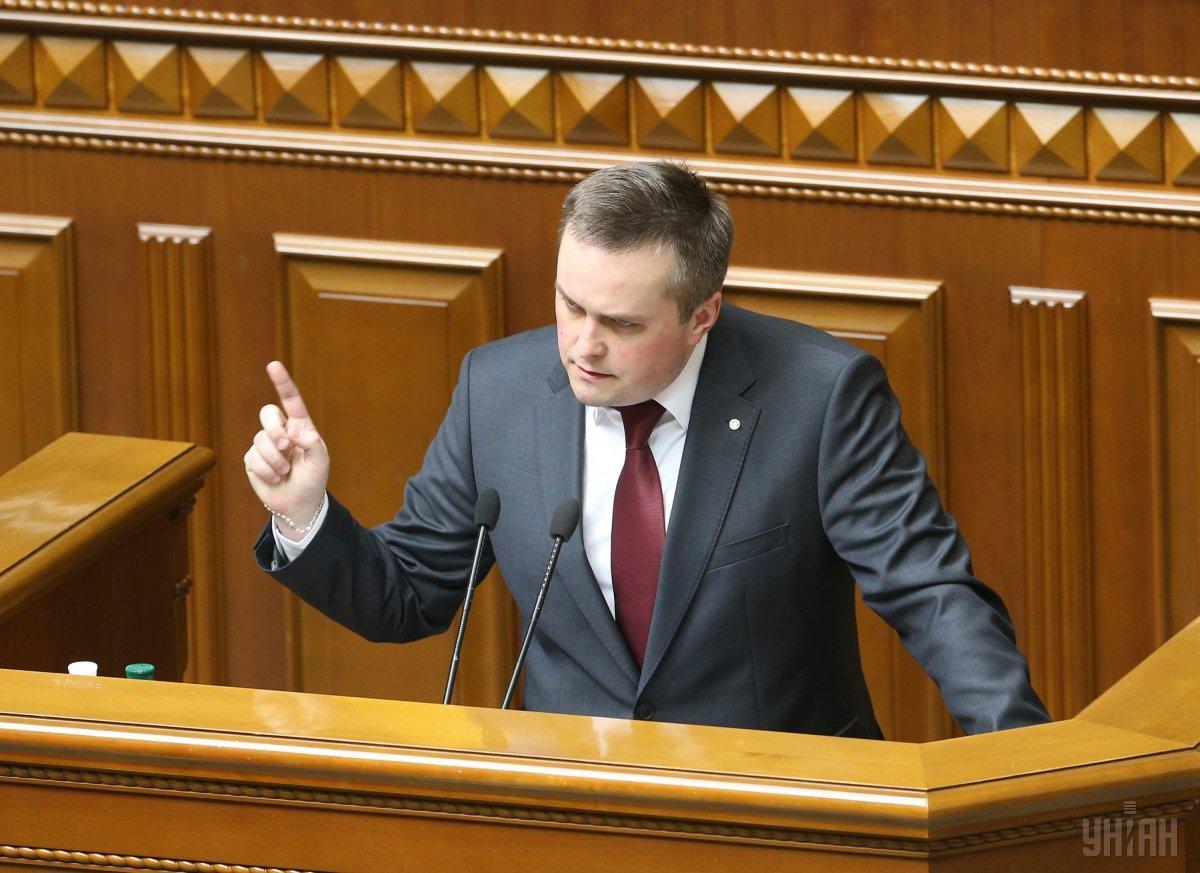 Назар Холодницький під час виступу / фото УНІАН