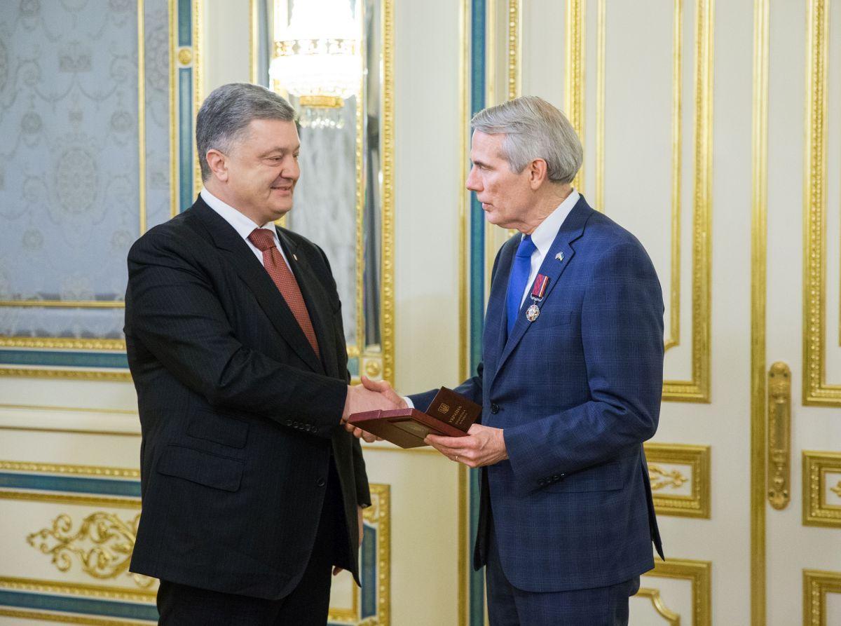 Poroshenko and Portman at the Presidential Administration in Kyiv / Photo from president.gov.ua