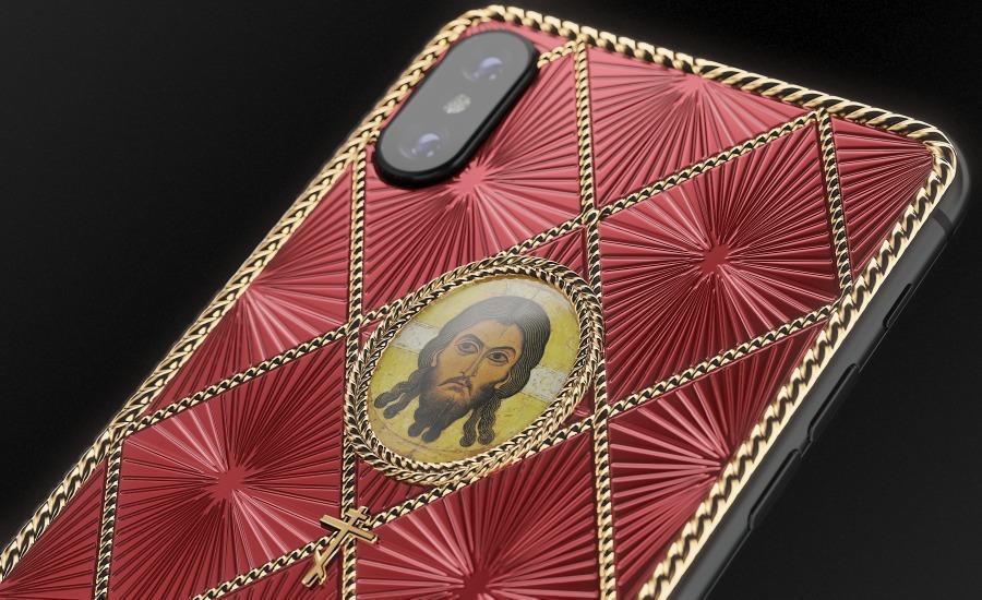 К Празднику Пасхи в России выпустили iPhone X с изображением Исуса / фото caviar-phone.ru