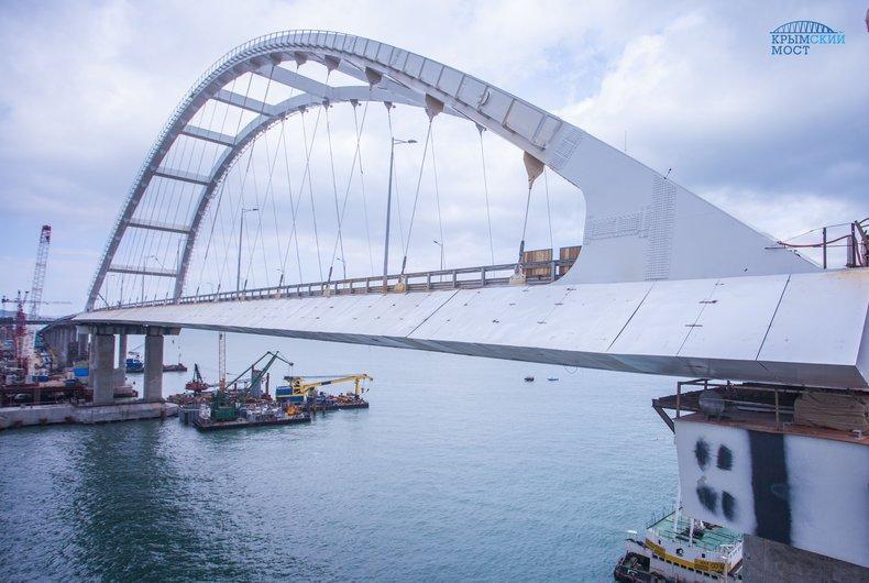 Окупанти поділилися планами на Кримському мосту / фото most.life