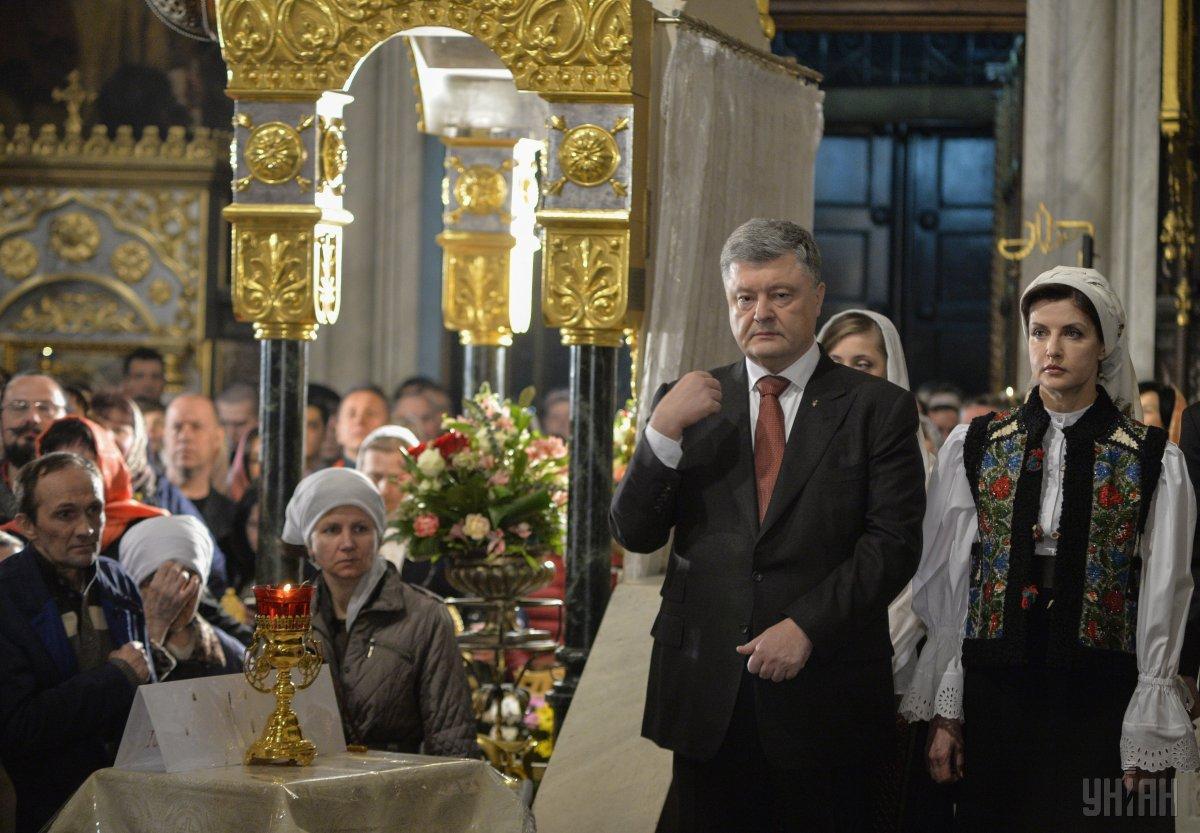 Петр Порошенко сегодня заявил, что РПЦ не место в Украине / УНИАН